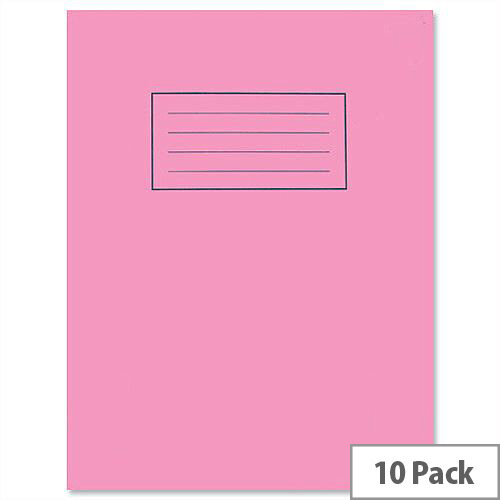 Silvine Exercise Book Plain 75gsm 80 Pages 229x178mm Pink EX112 [Pack 10]
