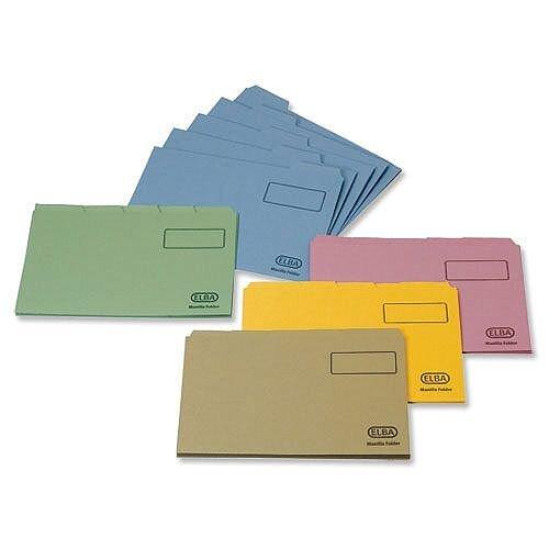 Elba Foolscap Tabbed Folder Buff 20612 Pack 100