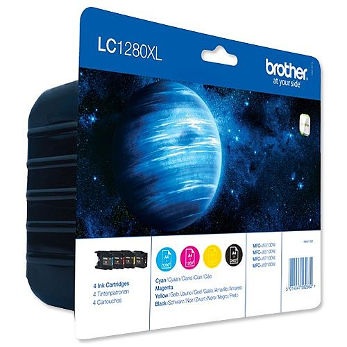 Brother LC1280XL 4 Colour Value Pack Inkjet Cartridge