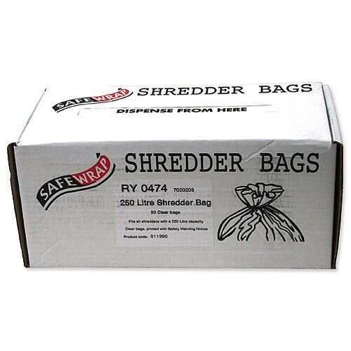 Robinson Young Safewrap Shredder Bags 250 Litre Pack 50