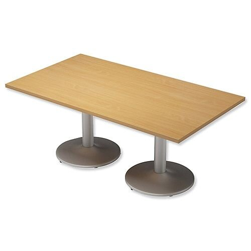 Trexus Boardroom Table Rectangular Pillar Leg W1800xD1000xH725mm Beech