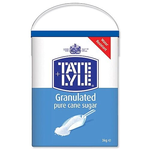 Tate &Lyle Pure Cane Sugar White Granulated Drum with Handle 3kg Ref A03917