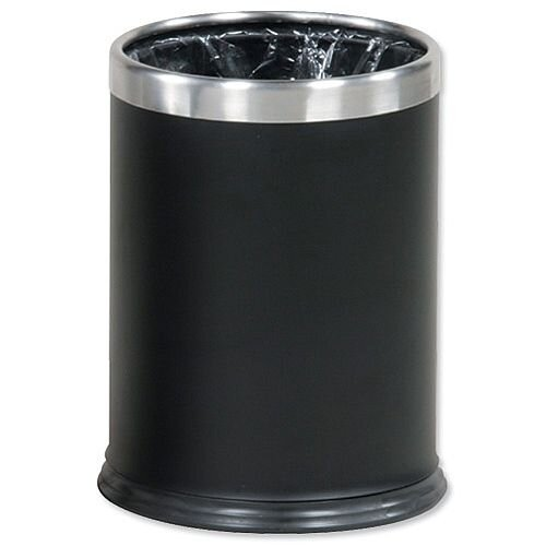 Rubbermaid Bin Hideabag Stainless Steel 13.2 Litres W241xH318mm Black Ref FGWHB14SS