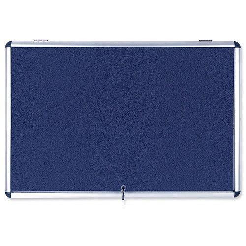 Bi-Office Fire Retardant Display Case Glazed Blue Fabric 8xA4 Ref ST350101150