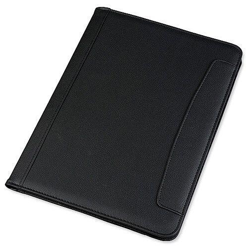 Alassio Messina Folio Leather Look Writing Case Black Ref 30081
