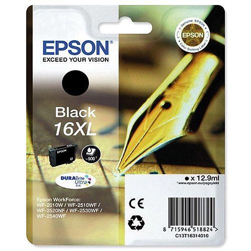 Epson 16XL Black High Capacity Ink Cartridge Pen &Crossword Series T16314010 C13T16314012
