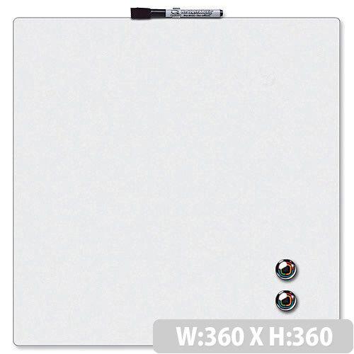 Quartet Magnetic Drywipe Board Square Tile White Ref 1903802