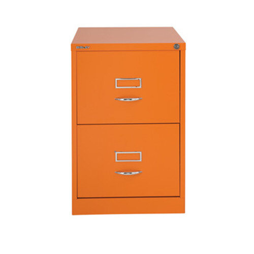 Bisley GLO Filing Cabinet 2-Drawer Orange Ref BS2C