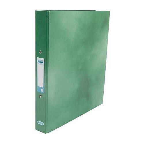 Elba Ring Binder Laminated Gloss Finish 2 O-Ring 25mm Size A4 Green Ref 400017756
