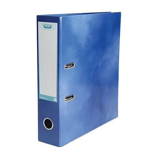 Elba Lever Arch File Laminated Gloss Finish 70mm Capacity A4 Blue
