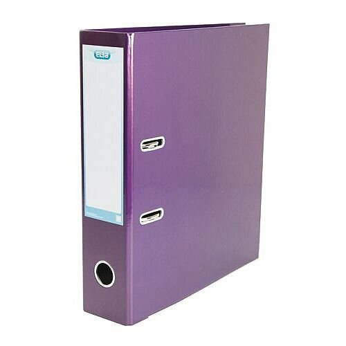Elba Lever Arch File Laminated Gloss Finish 70mm Capacity A4 Metallic Purple