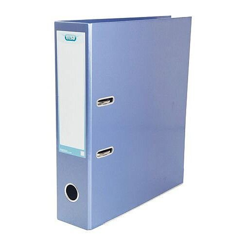 Elba Classy Lever Arch File Laminated Gloss Finish 70mm Capacity A4 Metallic Blue