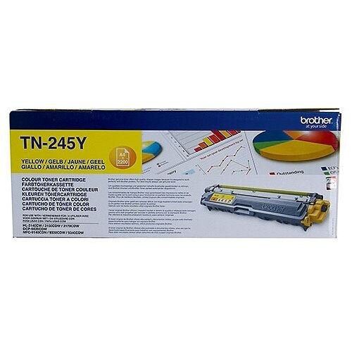 Brother TN-245Y Yellow High Capacity Laser Toner Cartridge TN245Y