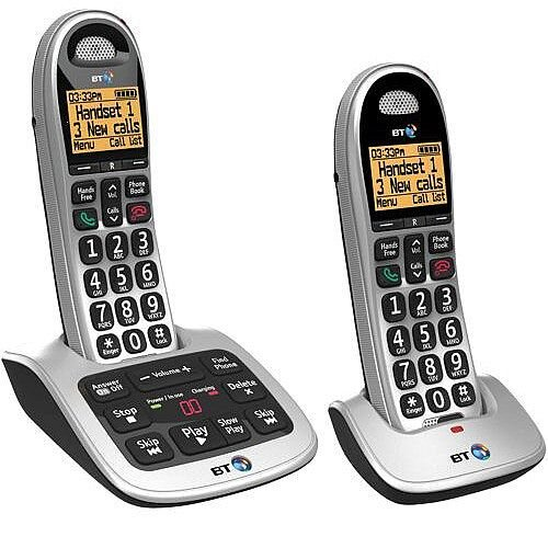 BT 4500 Twin Handset DECT Telephone with Answering Machine Ref 69267