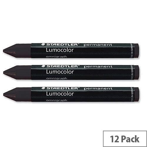 Staedtler 236 Omnigraph Black Crayons 2369 Pack 12