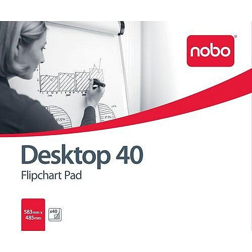 Nobo Barracuda Flipchart Pad B1 40 Sheets Pack of 5 Ref 34631170