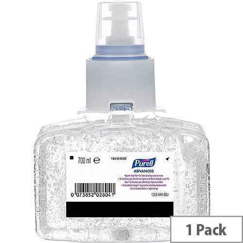 Purell Advanced Hygienic Hand Sanitizer Gel Rub Refill LTX-7 (Pack 1) Ref N07401