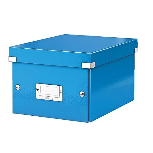 Leitz WOW Click and Store Small Storage Box For A5 Blue Ref 60430036