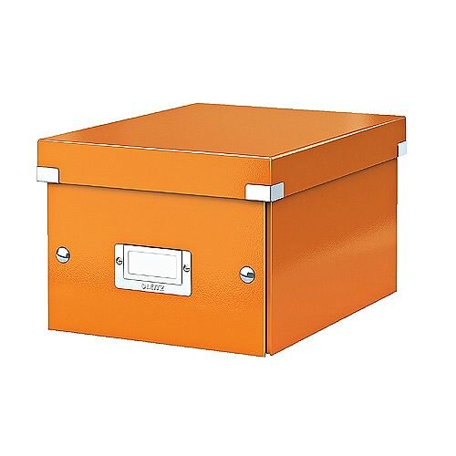Leitz WOW Click and Store Small Storage Box For A5 Orange Ref 60430044