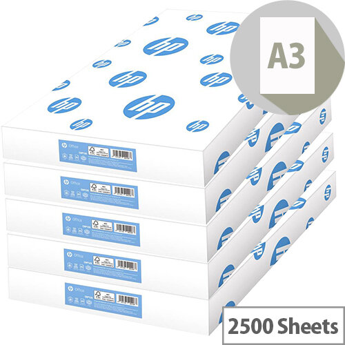 HP Hewlett Packard Office Paper A3 80gsm White 500 Sheets