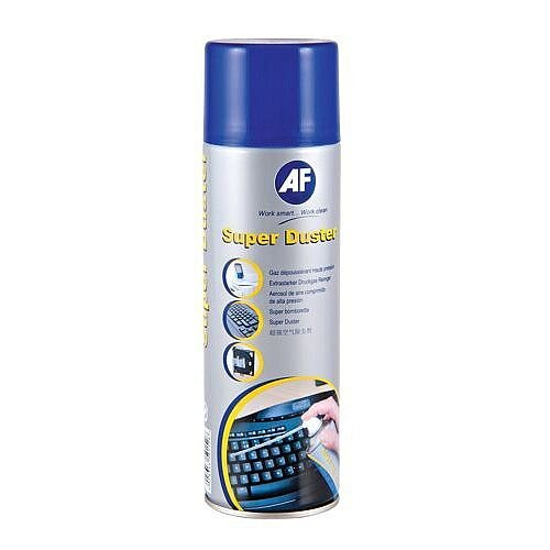 AF Sprayduster Non Flammable Computer Air Duster Spray 300ml Can - Use on all printers, keyboards and other office equipment - Liquid-free design for equipment safety