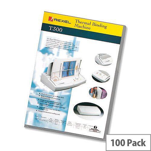 Rexel Superfine A4 Cut Flush Folder Polypropylene Lightweight Clear 12175 Pack 100