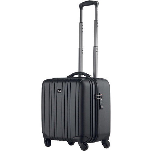 Juscha Detachable 2-in-1 Business Trolley Case TSA Lock ABS  Black