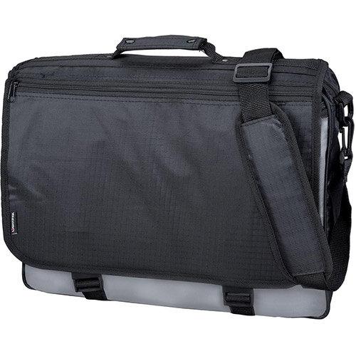 LightPak Wave Messenger Laptop Bag Polyester Black/Grey