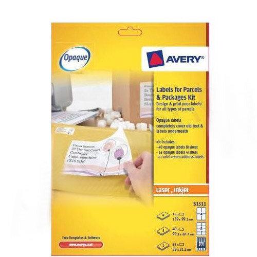 Avery Blockout Labels Kit for Parcels FSC (121 Labels)