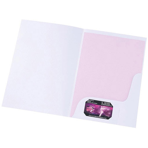 5 Star Presentation Folder With Window Matt White [Pack 50]