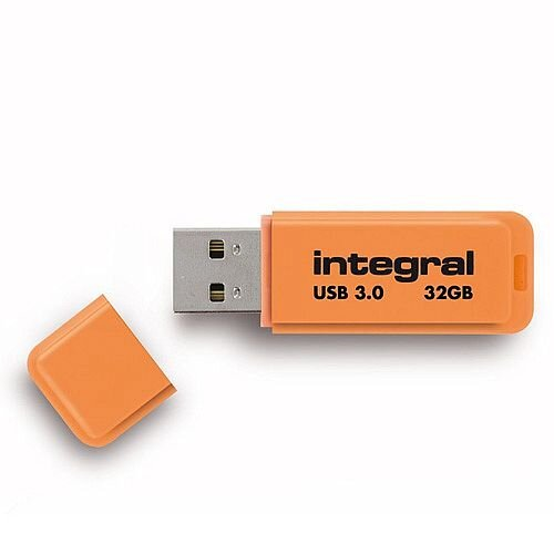 Integral Neon Memory Stick USB 3.0 Orange 32GB