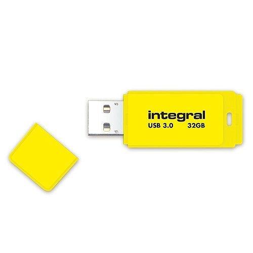 Integral Neon Memory Stick USB 3.0 Yellow 32GB