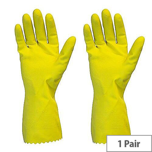 Rubber Gloves Multi Purpose Gloves Yellow Large Pair