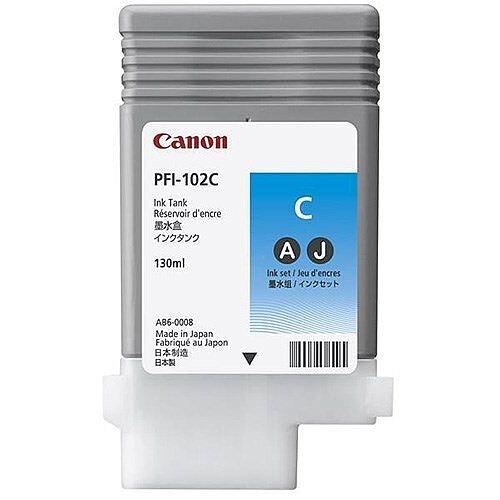 Canon PFI-102C Cyan Ink Tank 0896B001AA
