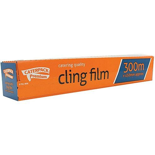 Caterpack Cling Film Antibacterial 450mm x 300m Ref 0163