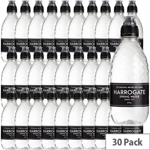 Harrogate Natural Still Water Sports Cap Botttles 330ml Pack 30