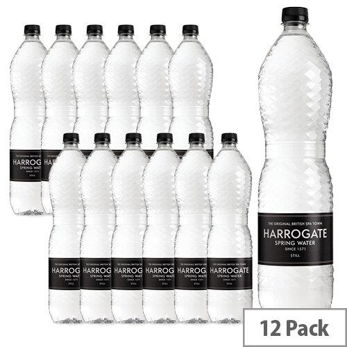 Harrogate Still Spring Water Bottles 1.5L Ref P150121S Pack 12