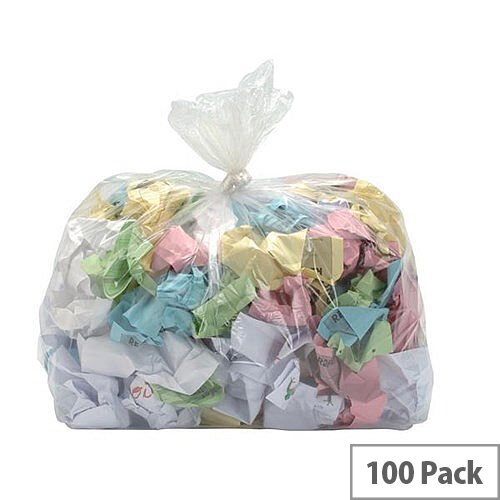 5 Star Refuse Sacks Heavy Duty Extra Large 190L Clear Pack 100