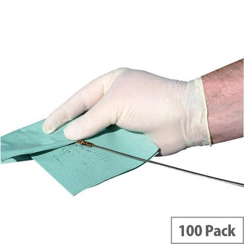 Disposable Latex Gloves Free From Powder Small Pack 100