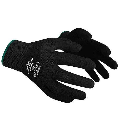 Polyco Gloves Seamless Polyurethane Palm Breathable Black Size 10 L/XL Pack 12 Ref 430335100