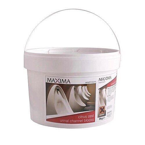 Maxima Citrus Zest Urinal Channel Blocks 3kg Tub