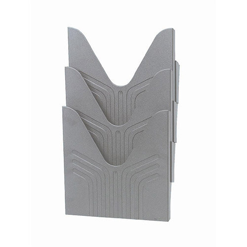 Avery Original  A4  Literature Holders  Grey  1 x Pack of 3 Literature Holders