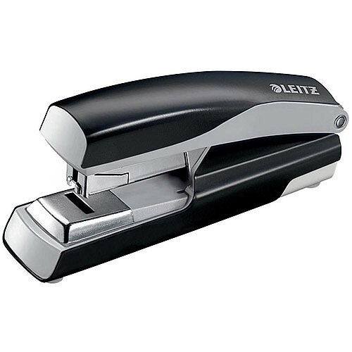 Leitz 5523 Metal Stapler  Metallic Black  40 Sheets of 80gsm Paper