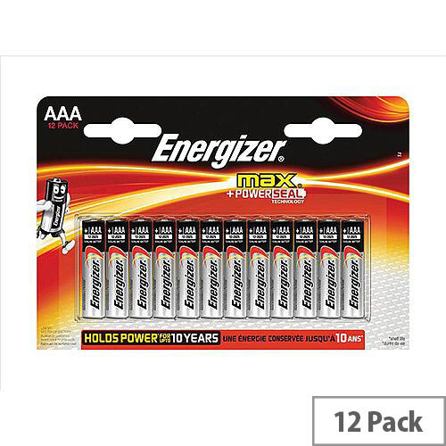 Energizer Max (AAA) Alkaline Batteries (Pack of 12 Batteries)