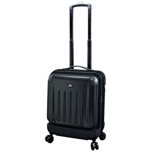 Juscha High Quality Luggage Trolley Bag ABS/Polycarbonate Handles 40L Black