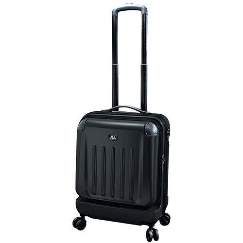 Juscha High Quality Luggage Trolley Bag ABS/Polycarbonate Handles 40L Black