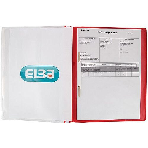 Elba Quotation  A4  PVC Folders 160-Sheets  Red  Pack of 25