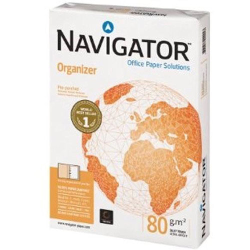 Navigator  A4  Organizer Paper 80gsm Punched 4 Holes  Pack of 500 Sheets
