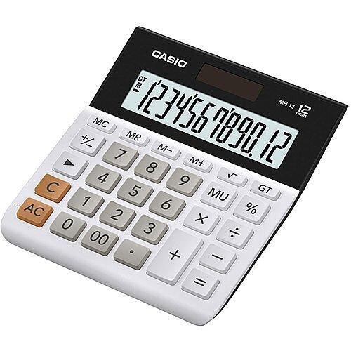 Casio MH-12-WE-S-EH Wide H Series 12 Digit Desktop Calculator