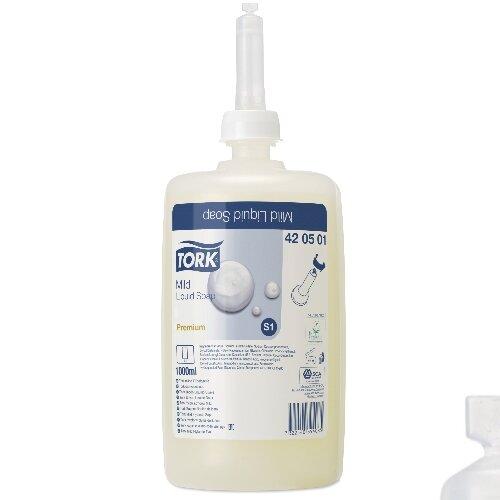 Tork S4 Premium Mild Soap Refills 1 Litre Ref 420501 (Pack 6)
